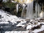 Snow covered Hilton Falls – Campbellville, Ontario, Canada